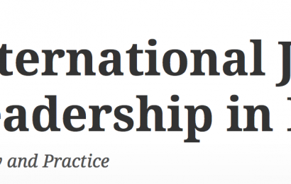 Leading for social justice in challenging school contexts, paper published in the International Journal of Leadership in Education sobre ISSPP