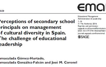 Perceptions of secondary school principals on management of cultural diversity in Spain. The challenge of educational leadership.