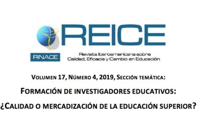 Last issue of REICE 17(4) about Training of Educational Researchers: Quality or Marketing of Higher Education?