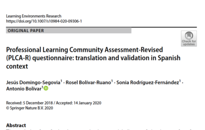 New paper publish in Learning Environments Research