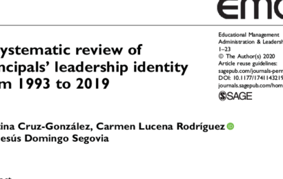 RILME members from the UGR publish a systematic review about principals' leadership identity
