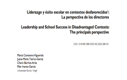 Leadership and school success in disadvantaged contexts: The principals perspective
