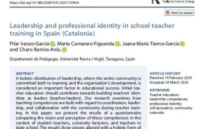 Leadership and professional identity in school teacher training in Spain (Catalonia)