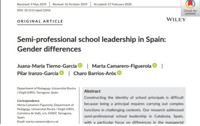 New paper about leadership by RILME members from URV